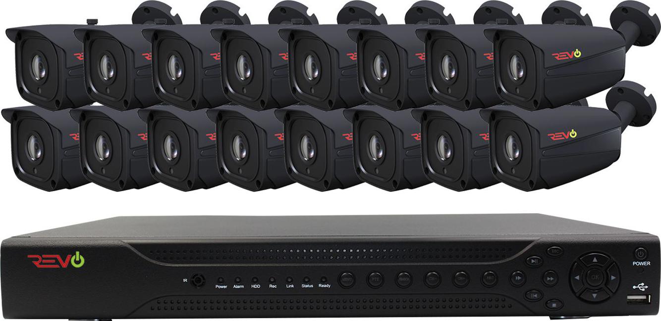 Aero HD 16 Ch. 4TB 5MP Video Surveillance System with 16 Indoor/Outdoor Bullet Cameras