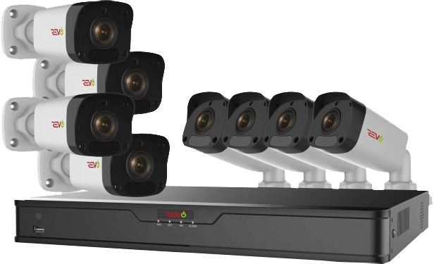 Ultra HD 16 Ch. 2TB IP NVR Surveillance System & 8 2MP Bullet Security Cameras