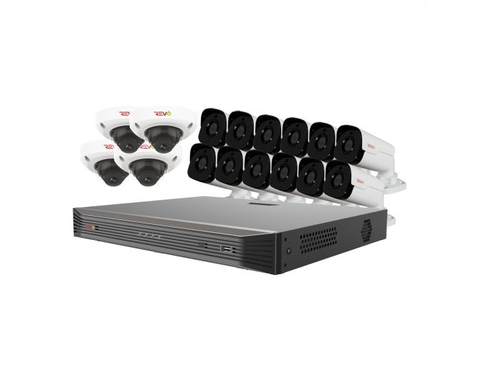 Ultra HD Audio Capable 16 Ch. 4TB NVR Surveillance System with 16 4 Megapixel Cameras Cameras