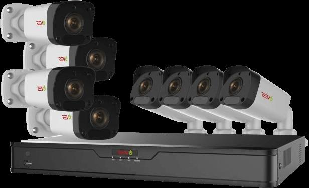 Ultra HD 8 Ch. 2TB IP NVR Surveillance System & 8 2MP Bullet Security Cameras