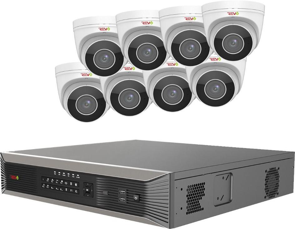 REVO ULTRA PLUS 16CH 4K NVR, 4TB, 8x 4K Motorized Lens Audio Capable Cameras