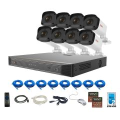 Ultra HD 16Ch. 2TB NVR Security System with 8x 4MP Security Cameras