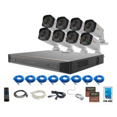 Ultra HD 16Ch. 3TB NVR Security System with 8 x 4MP Security Cameras