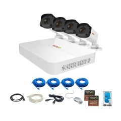 Ultra HD 8Ch. 1TB NVR Surveillance System with 4 x 4MP Bullet Cameras