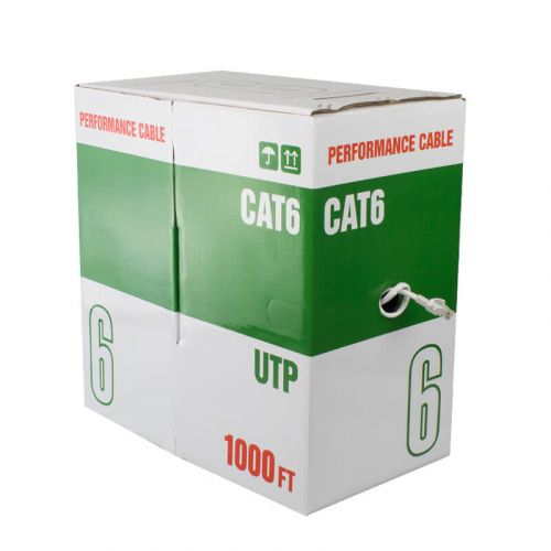 REVO CAT6 UTP Ethernet Bulk Cable Indoor Rated - 1000ft Box - UL Listed 23AWG, 550MHz