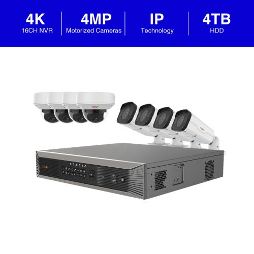 Ultra Plus HD 16 Ch. 4TB NVR Surveillance System with 8 Security Cameras