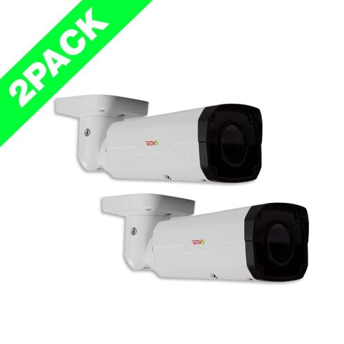 Ultra HD 4 MP IP Indoor/Outdoor Bullet Security Camera (2-Pack)