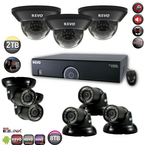 16 Channel DVR Home Surveillance System with 700TVL Security Cameras