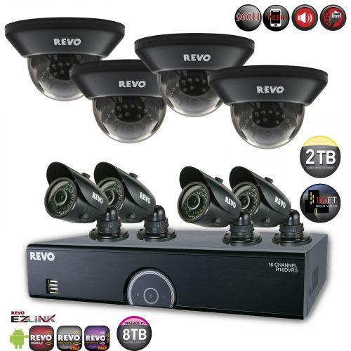 Home Security System with 700TVL Security Cameras
