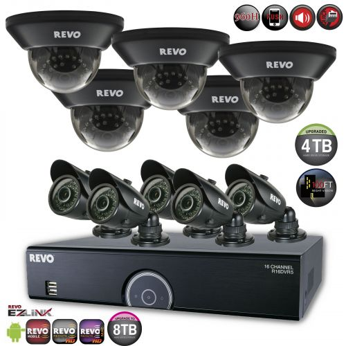 16 Channel Surveillance System with 10 700TVL Security Cameras