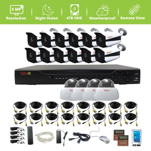 Aero HD 16 Ch. Video Security System with 16 Indoor/Outdoor 5 Megapixel Cameras
