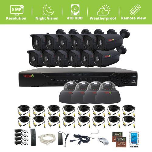 Aero HD 16 Ch. 4TB 5MP Video Surveillance System with 16 Indoor/Outdoor Cameras