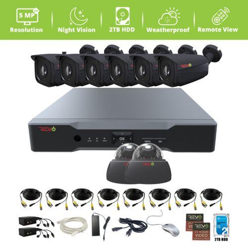 Aero HD 8 Ch. 2TB 5MP Video Surveillance System with 8 Indoor/Outdoor Cameras