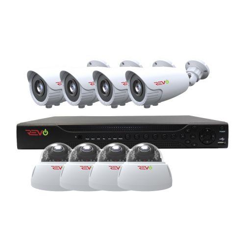 REVO Aero 4MP DVR, 2TB with 8x 1080p Vari-focal Indoor/Outdoor IR Cameras