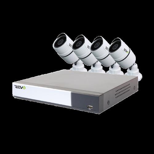 REVO Aero 8 CH with 4 1080p Bullet Cameras
