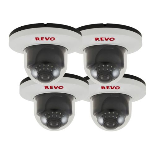 900 TVL Indoor Dome Surveillance Cameras with Night Vision (Pack of 4)