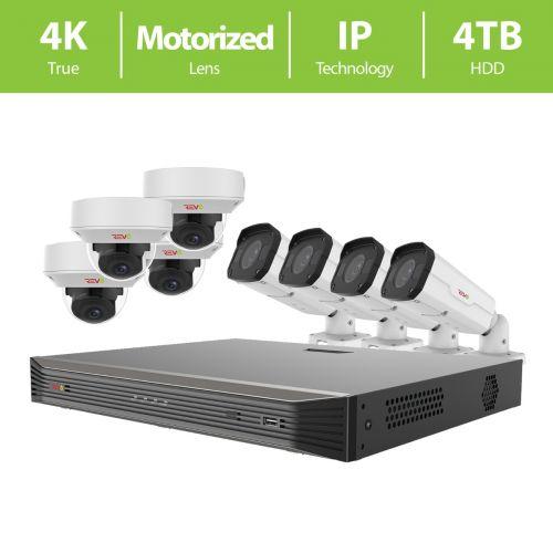 REVO ULTRA 16CH 4K NVR, 4TB, 8x 4K Motorized Lens Cameras