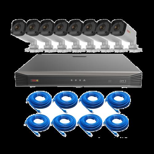 REVO ULTRA 16CH IP Video Surveillance System, 16 CH 4K NVR, 2TB HDD, 8x 4 Megapixel Indoor/Outdoor IR Bullet Cameras - Remote Access via Smart Phone, Tablet, PC & MAC