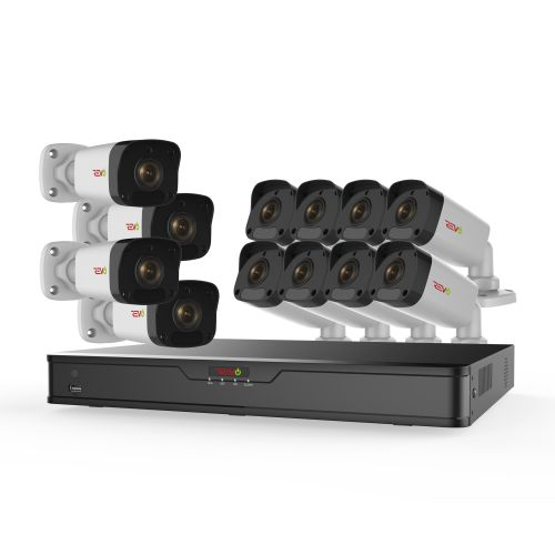Ultra HD 16 Ch. 3TB IP NVR Security System & 12 2MP Night Vision Bullet Cameras