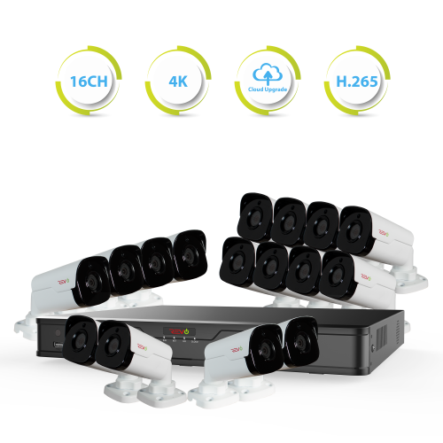 Ultra HD 16 Ch. 4TB NVR Surveillance System with 16 4 Megapixel Cameras