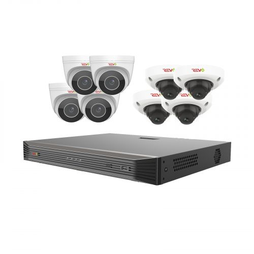 Ultra HD Audio Capable 16 Ch. 3TB NVR Surveillance System with 8 4 Megapixel Cameras
