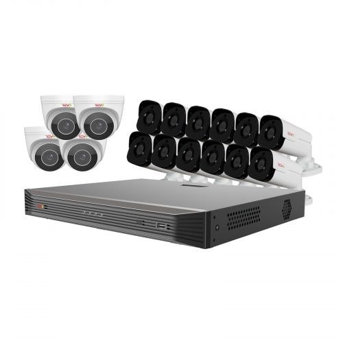 Ultra HD Audio Capable 16 Ch. 4TB NVR Surveillance System with 16 4 Megapixel Cameras