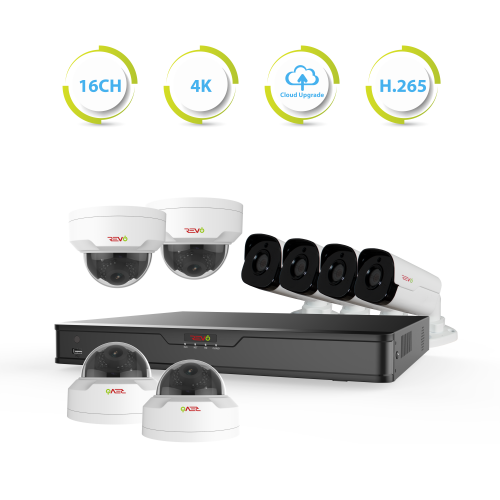 Ultra HD 16 Ch. 3TB NVR IR Surveillance System & 8 4MP Security Cameras