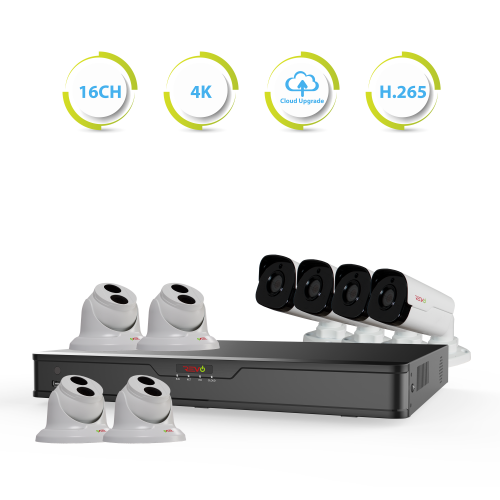 Ultra HD 16 Ch. 3TB NVR Surveillance System with 8 4 Megapixel Cameras