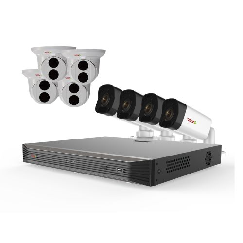 Ultra HD 16 Ch. 3TB NVR Home Surveillance System with 8 4MP Security Cameras