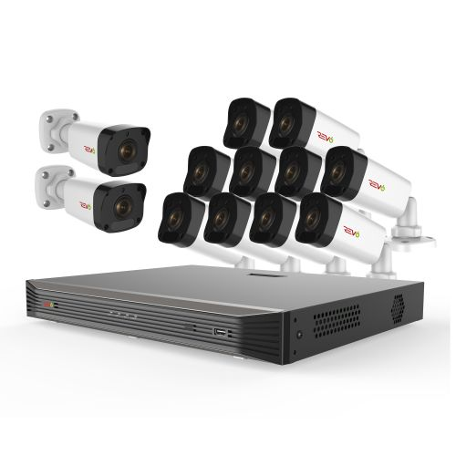 Ultra HD 16 Ch. 3TB NVR Video Surveillance System & 12 4MP Bullet Cameras