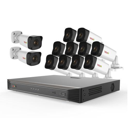 Ultra HD 16 Ch. 3TB NVR Video Surveillance System & 12 4MP Bullet Cameras