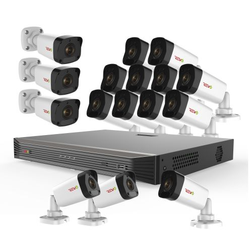 Ultra HD 16 Ch. 3TB NVR Video Surveillance System & 16 4MP Bullet Security Cameras