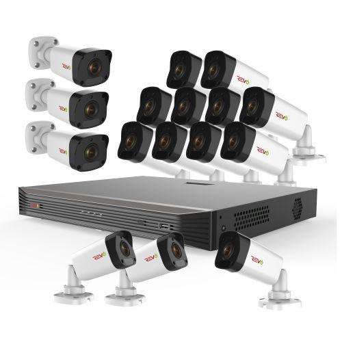 Ultra HD 16 Ch. 3TB NVR Video Surveillance System & 16 4MP Bullet Security Cameras