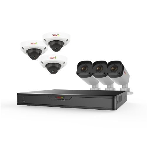 Ultra HD 16Ch. NVR Survelliance System with 3 Dome and 3 Bullet Cameras