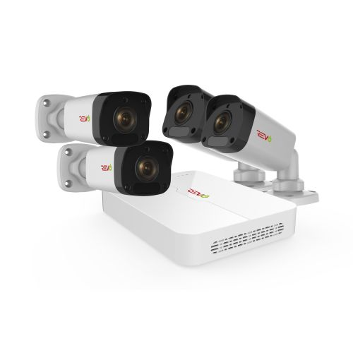 Ultra HD 8 Ch. 1TB NVR Home Surveillance System & 4 2MP Bullet Cameras