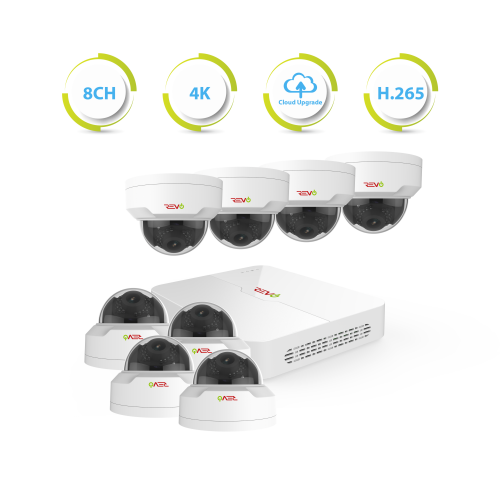 Ultra HD 8 Ch. 2TB NVR Home Surveillance System with 8 Security Cameras