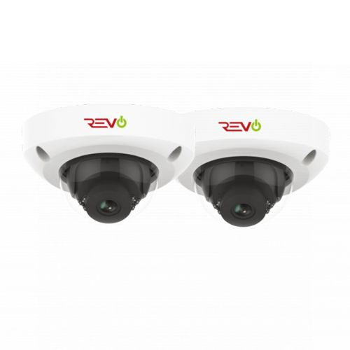 Ultra HD Audio Capable 4 Megapixel Vandal-Resistant IP Surveillance Mini Dome Camera (Pack of 2)