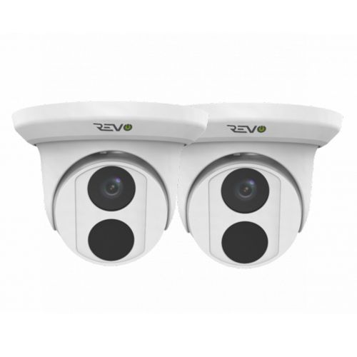 REVO ULTRA 4K(8 Megapixel) Indoor/Outdoor Fixed Lens Turret Camera w/ 100' CAT5e Cable (Pack of 2)