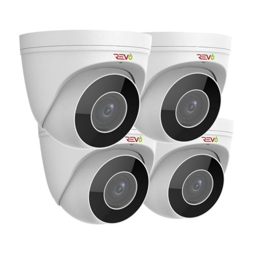 REVO ULTRA True 4 K IR Indoor/Outdoor Turret Camera with 2.8 to 12mm motorized lens (Pack of 4)