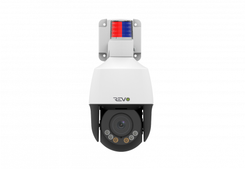 REVO ULTRA 1080p 4x Optical Zoom PTZ Camera with Two-Way Audio, Siren and Strobe Lights