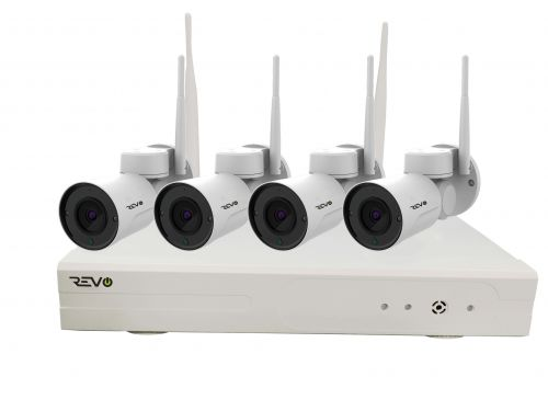 REVO Wireless 4CH 1080p Wi-Fi NVR, 1TB & 4 x 1080p Indoor/Outdoor Pan Tilt Bullet Cameras