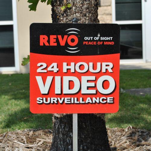 REVO Warning Yard Sign