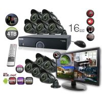 "16 Channel DVR Surveillance System with 10 Bullet Cameras & 21.5"" Monitor"