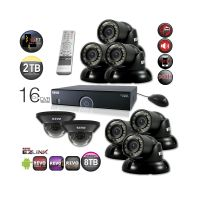 Home Security System with Night Vision Security Cameras & Monitor