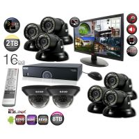 "16 Channel DVR Security System with 8 700TVL Night Vision Cameras & 21.5"" Monitor"