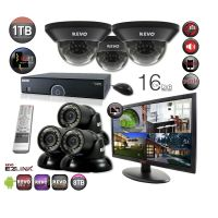 "16 Channel DVR Surveillance System with Night Vision Cameras & 21.5"" Monitor"