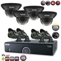 Home Security System with 700TVL Security Cameras
