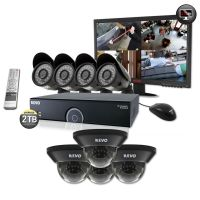"16 Ch. 2TB DVR Surveillance System with 8 700 TVL 100 ft. Night Vision Cameras & 22"" LED Monitor"
