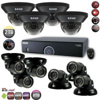 Home Surveillance System with 10 Security Cameras