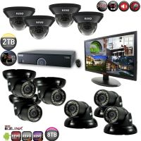16 Channel DVR Surveillance System with 10 Night Vision Cameras